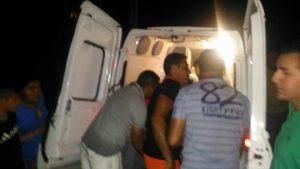 Em Nova Floresta, acidente deixa  homem gravemente ferido na noite desse sábado (07)
