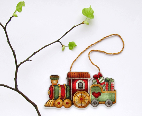 Train ornament, вышивка, Dimensions
