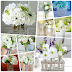 White Flowers in Glass Vases Deco Ideas