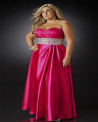 vestido largo rosa elegante gordita