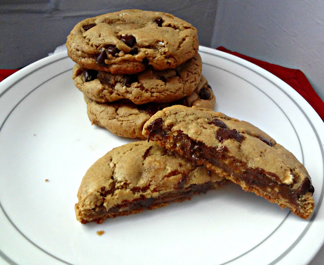Whole Wheat Butter-less Peanut Butter Chocolate Chip Cookies