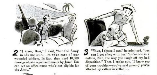 1940's advertising and humor: 1945 SANKA COFFEE AD