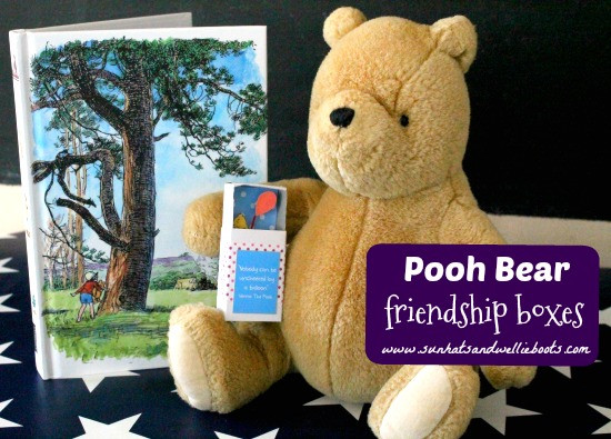 Celebrating friendship and the wisdom of Pooh Bear these Friendship Boxes make great gifts to share with school friends.