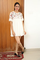 Lavanya Tripathi in Summer Style Spicy Short White Dress at her Interview  Exclusive 253.JPG