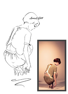 Sketches inspired by Lazzari Store and new fashion collectio