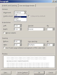 cara merapikan tulisan di microsoft office word 2013