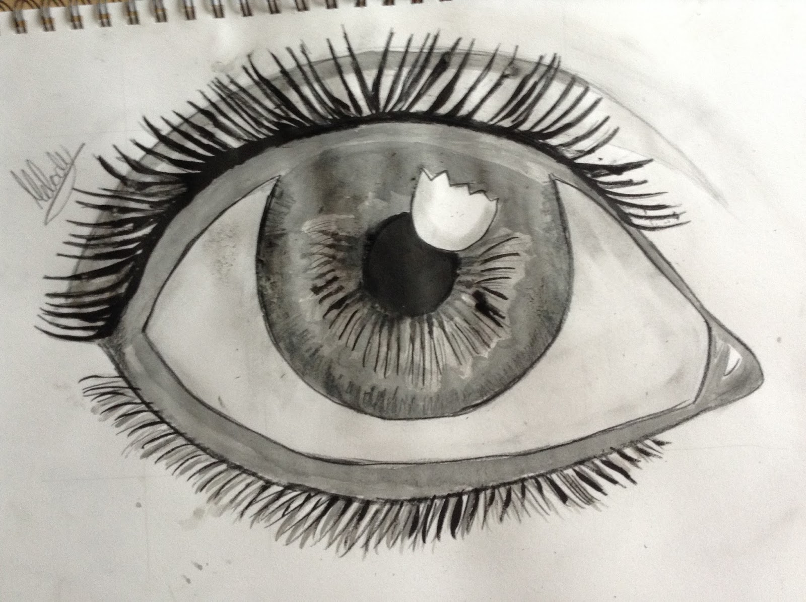 My Eye Drawing From A Mark Crilley Art Tutorial Bunny Drawing How