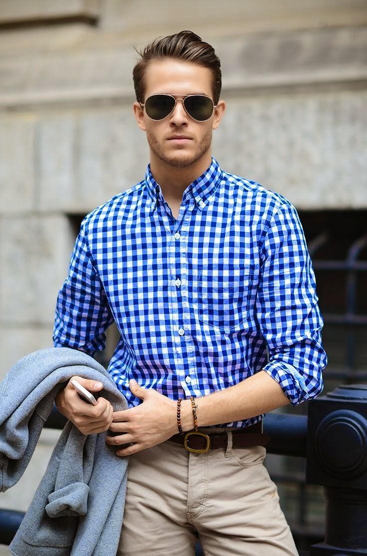como usar camisa xadrez masculina no verão