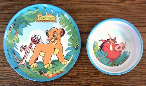Disney Lion King Kids Dishes -- Plate and Bowl Set & Treasure Box . . . . . 881-6463: Disney Lion King Kids Dishes ...