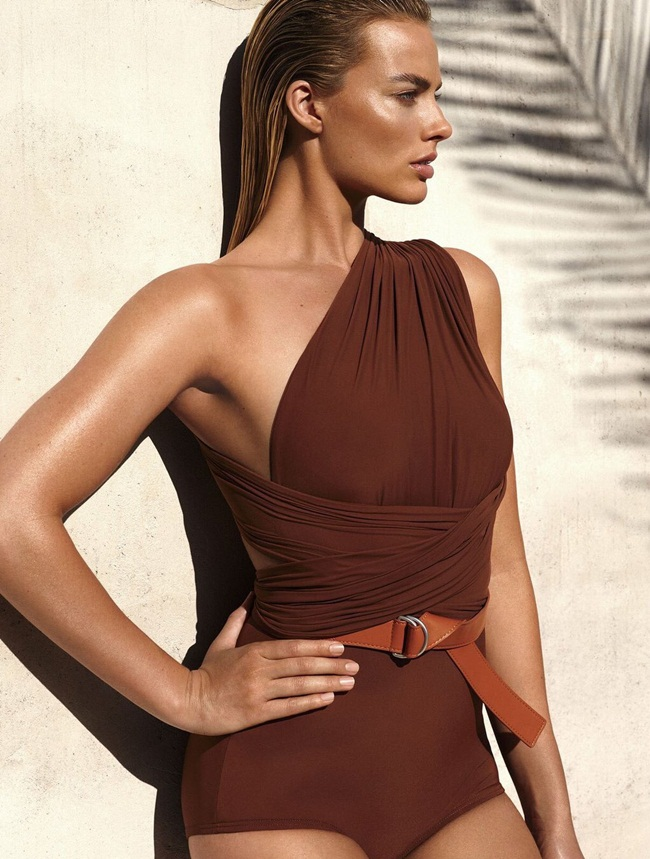 2016 SS Michael Kors One Shoulder Safari Swimsuit Editorials