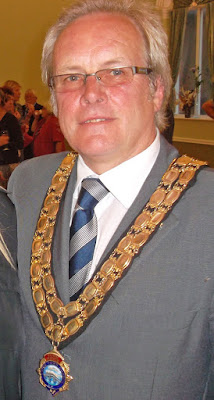 Coun Carl Sherwood when he was Town Mayor - picture on Nigel Fisher's Brigg Blog