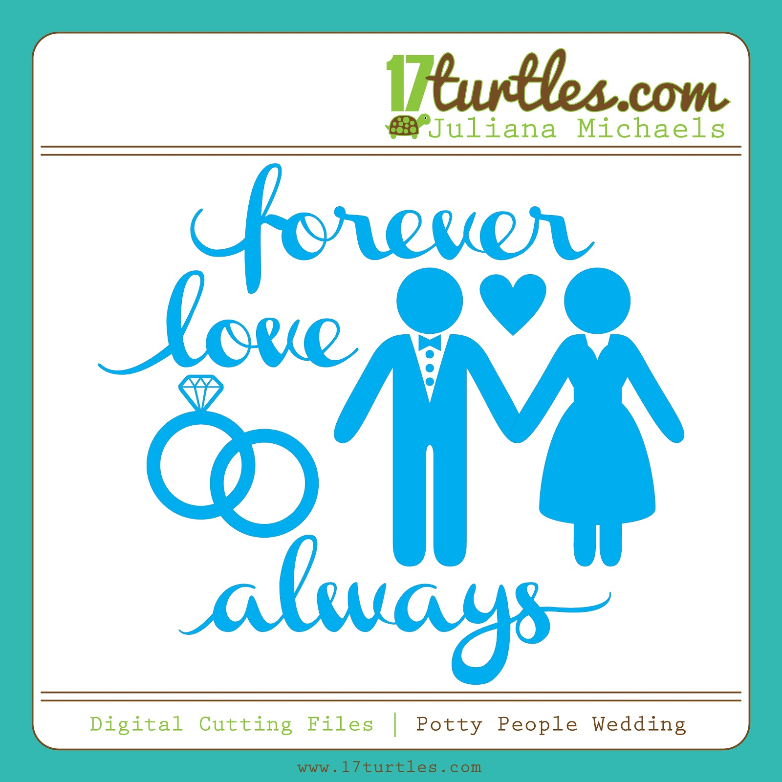 Potty People Wedding Free Digital Cut File by Juliana Michaels