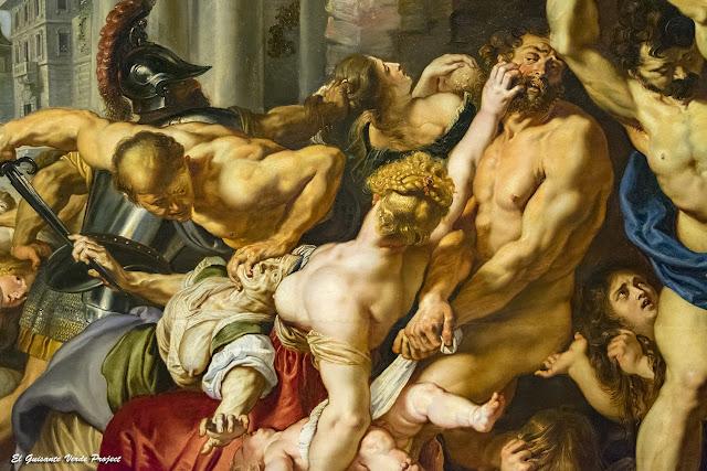 La matanza de los inocentes (detalle); préstamo en Casa Rubens - Amberes por El Guisante Verde Project