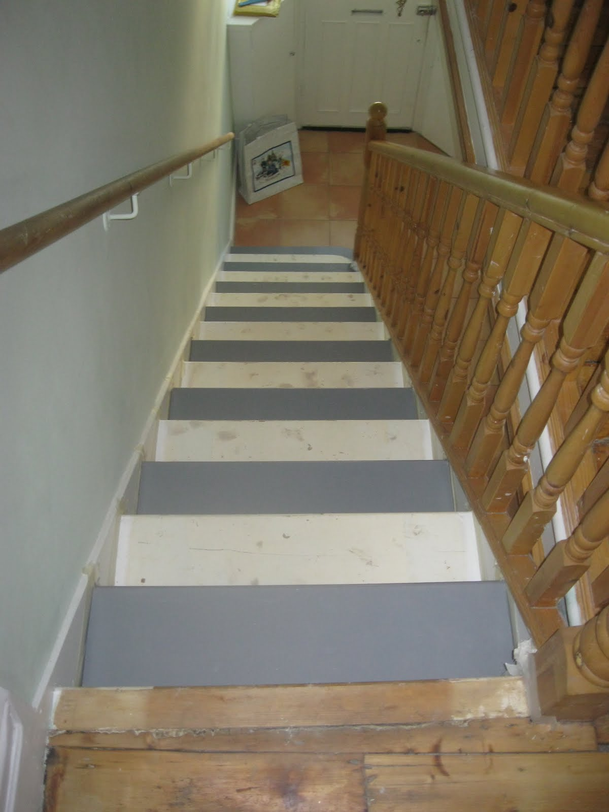 Niall And Mitch Got Hitched Painted Stairs Main Floor
