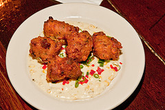 West African Fried Peanut Onion Fritters