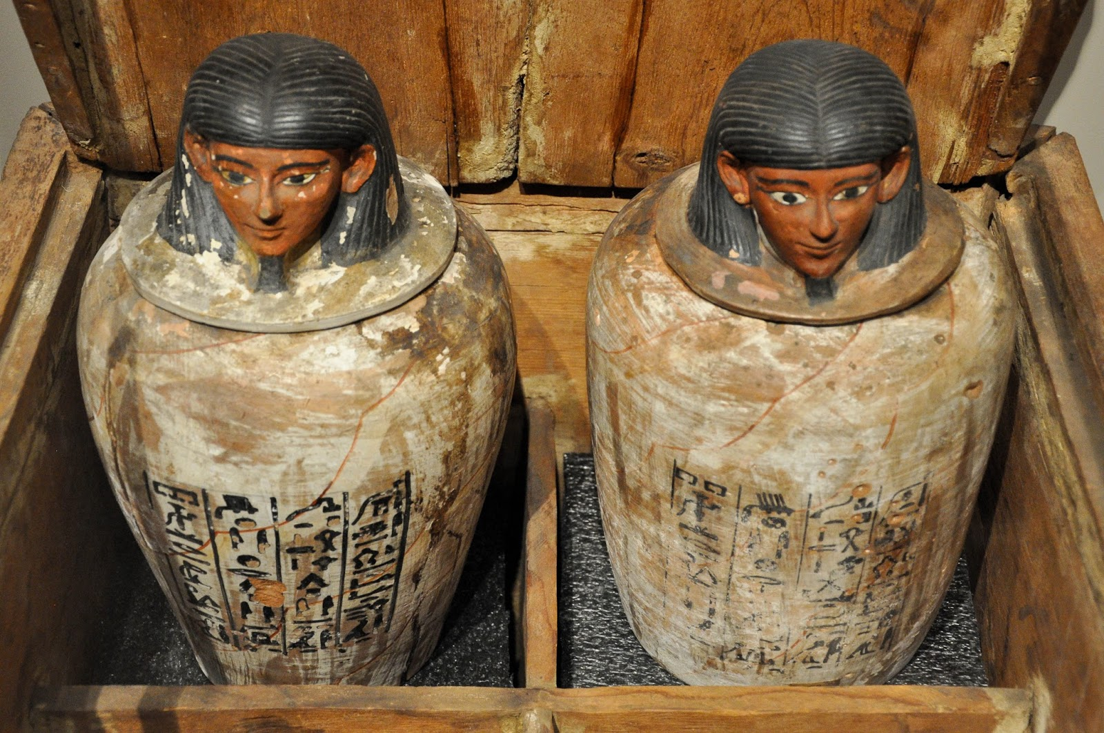 Ancient Egyptian Urns, Egyptian Museum, Turin, Italy