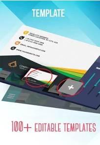 custom business cards maker app