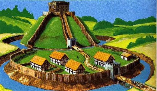 Castelos - motte-and-bailey