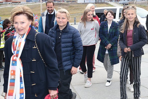 Queen Sonja, Crown Princess Mette-Marit, Princess Ingrid Alexandra, Märtha Louise, Emma Tallulah, Leah Isadora and Maud Angelica Behn