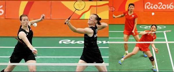 Final Ganda Putri Badminton Olimpiade 2016