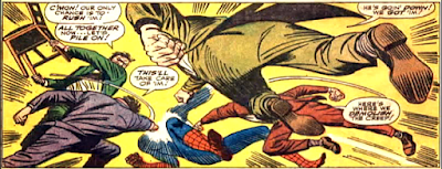 Amazing Spider-Man #50, john romita, our hero is attacked by a gang of thugs
