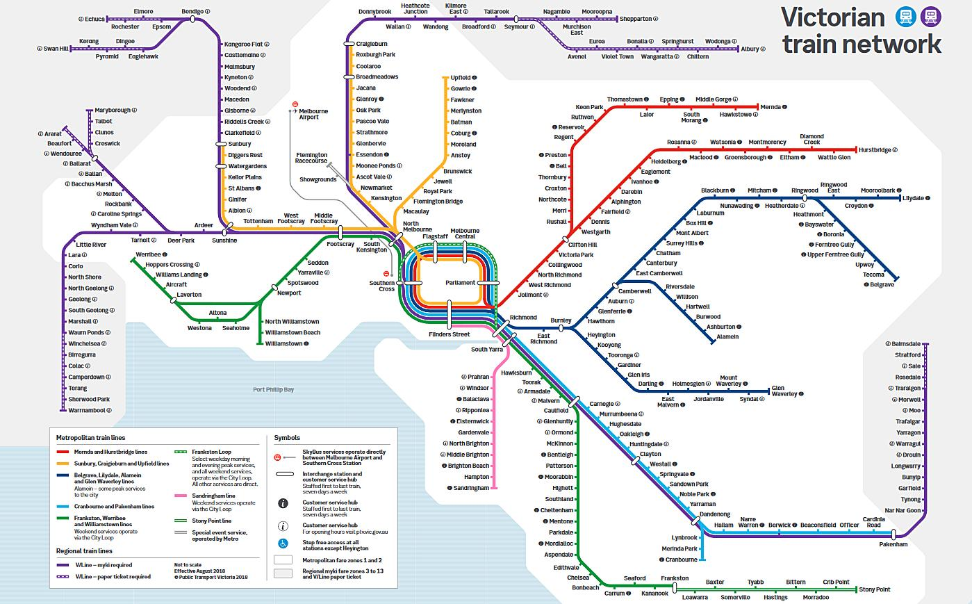 Melbourne-Transport-myki-Tram-Train-Bus-Introduction-Guide-Boarding Method-Map-Fare