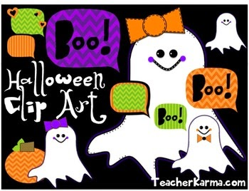 Halloween Clipart Freebie - Ghosts