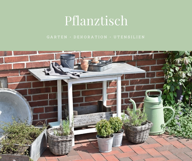 garden potting table DIY