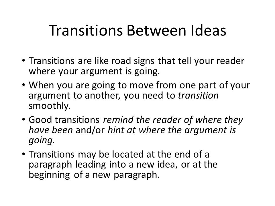 good essay paragraph transitions