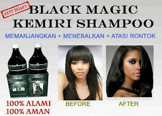 Jual Produk Black Magic Kemiri Shampoo 100% Alami