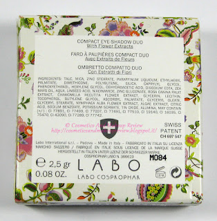 Labo Make-Up - Pure Flower Compact Eye-shadow Duo n.03 Olive green/Aqua green - packaging retro