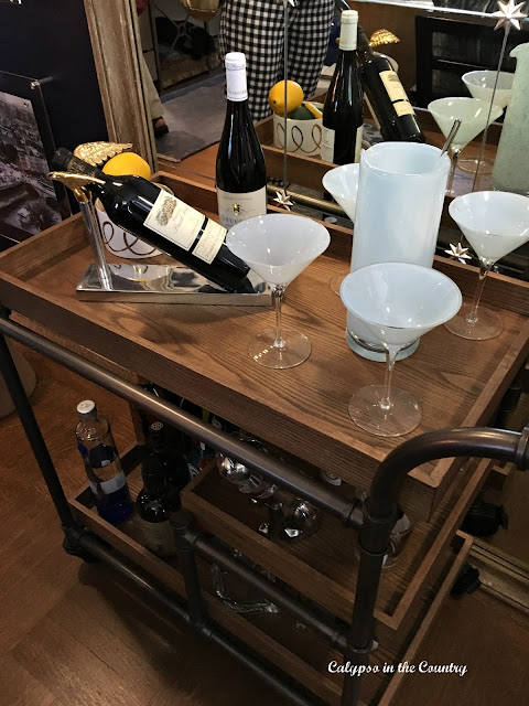 Curren Design Assoc Inc - Bar Cart Inspiration from Designer Showhouse