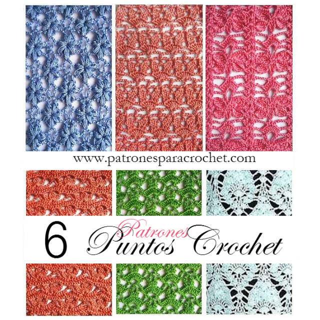 6 patrones de puntos crochet calados | Patrones para Crochet