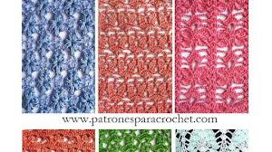 6 patrones de puntos crochet calados