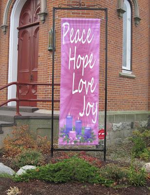 Peace, Hope, Love, Joy Advent Banner | Banners.com
