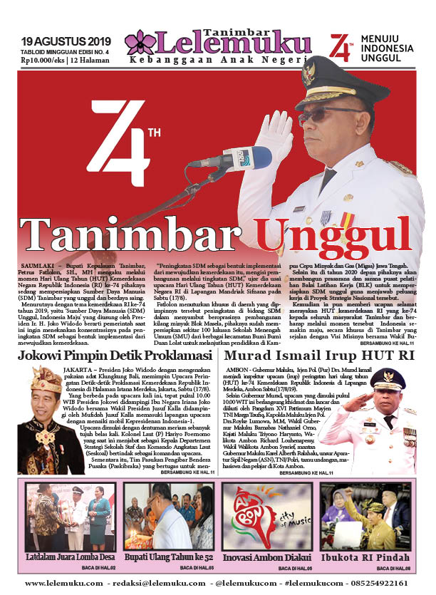Tabloid Lelemuku #4 - Tanimbar Unggul - 19 Agustus 2019
