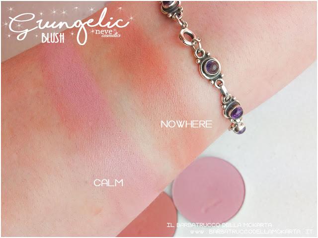Blush  swatches Grungelic collection Neve cosmetics  recensione, pareri, makeup, consigli, comparazioni