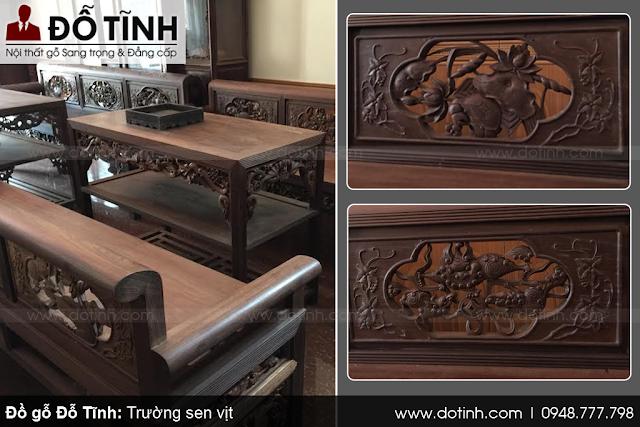 Bộ trường kỷ gỗ gụ ta - Ngắm bộ bàn ghế cổ xưa đẹp, độc đáo và đẳng cấp