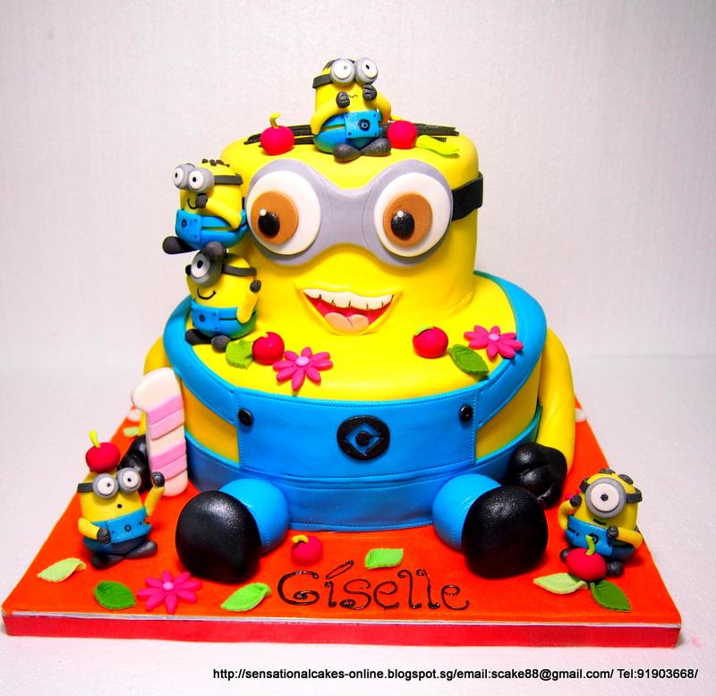 Cakes2share Singapore Despicable Me Minions Giant 3d Cake Singapore
