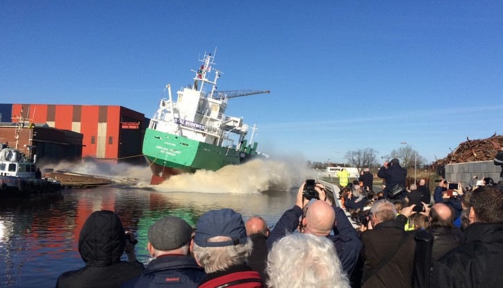 VIDEO: Arklow Valiant launched at Royal Bodewes Hoogezand shipyard, Netherlands