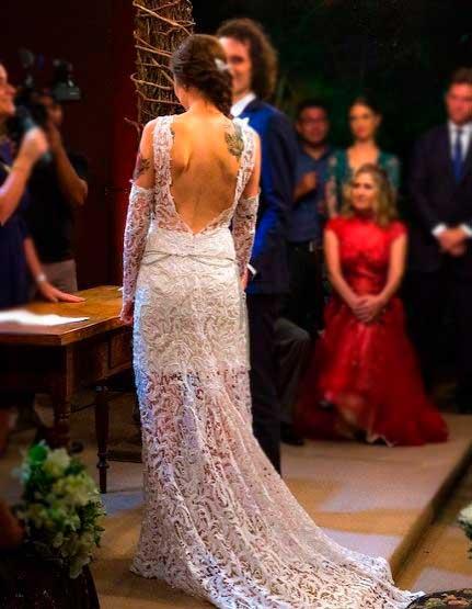 Vestido noiva 100% algodão