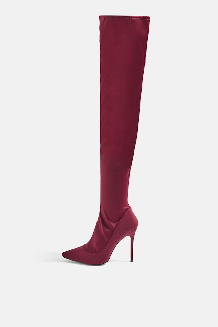 TOPSHOP BELLINI OVER THE KNEE SOCK BOOTS. AW17