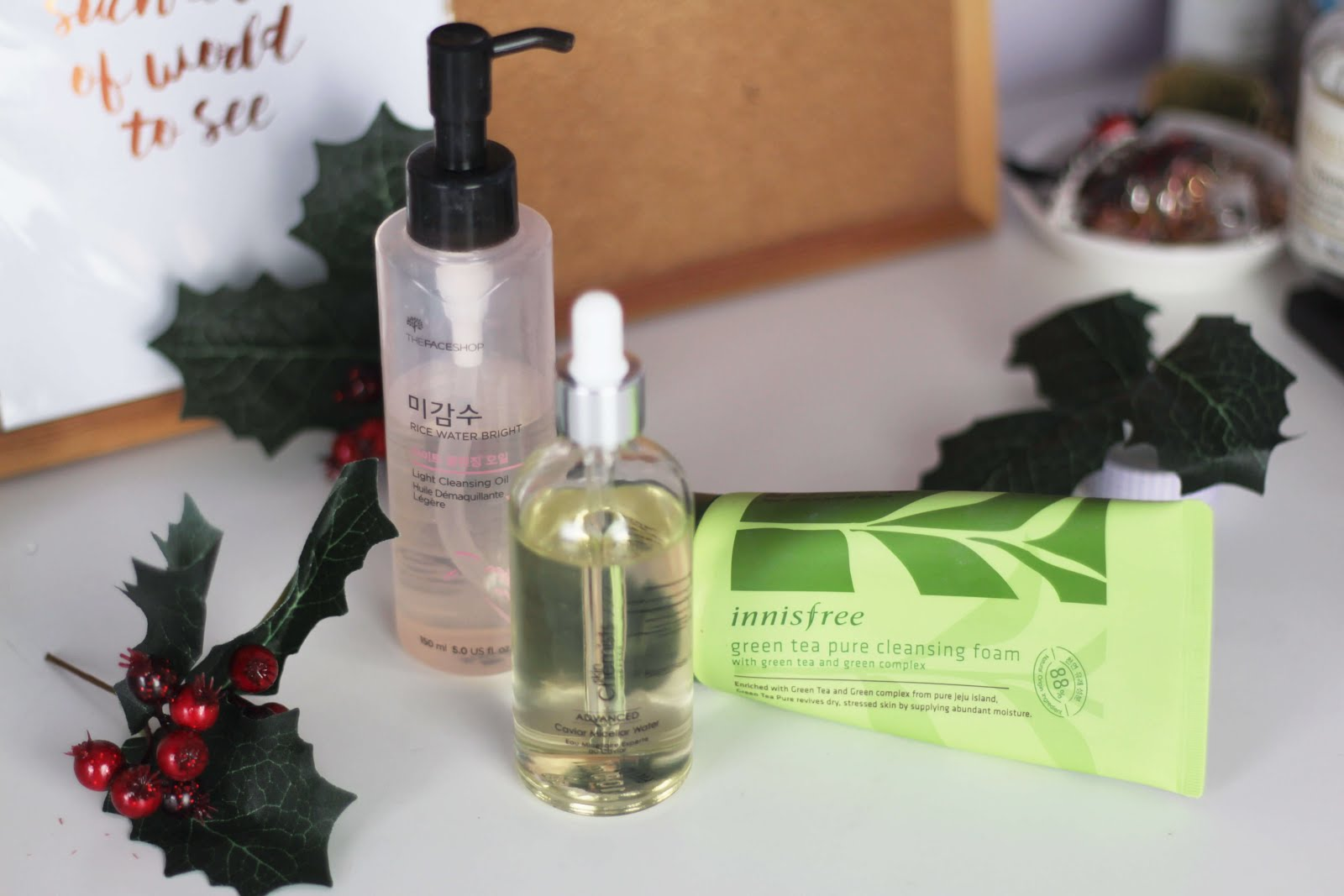 winter skincare routine for good skin cleansers