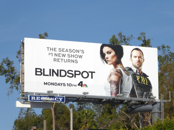 Blindspot midseason return billboard