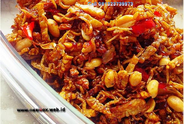 Resep orek tempe teri nasi box kawah putih ciwidey