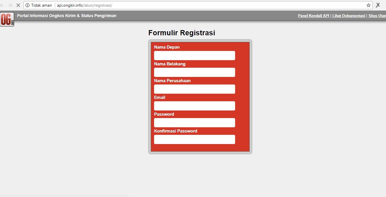 Register Page Kalau Anda Belum Punya Aksesnya