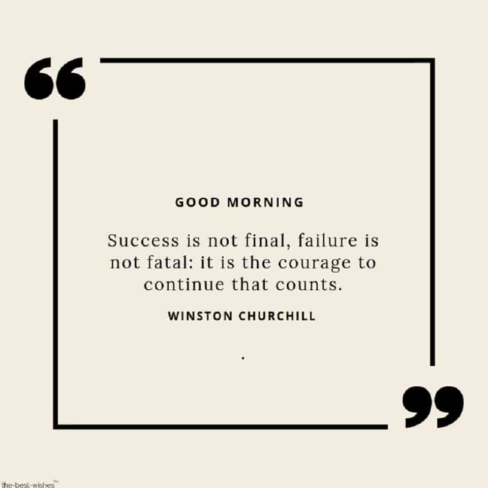 good morning wishes with success is not failure quotes images