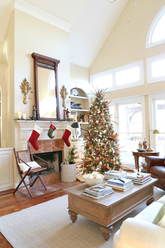 Savvy Southern Style Christmas Great Room With New