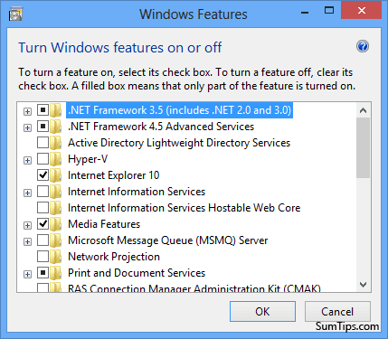 Dot Net Framework 3.5 Windows 8 Feature