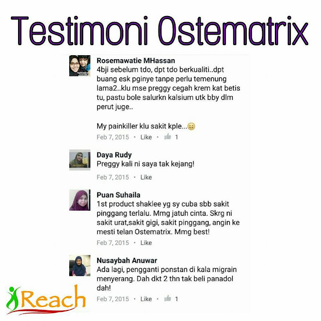 testimoni ostematrix shaklee